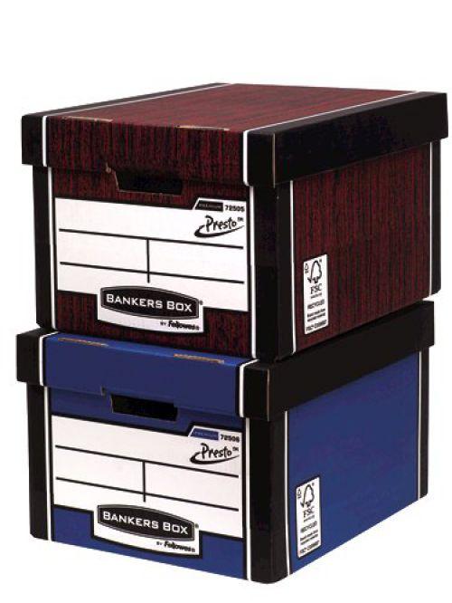 Bankers Box Premium Storage Box (Presto) Classic Blue FSC Ref 7250602 [Pack 10]