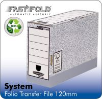 Fellowes Bankers Box System Folio Transfer File Board Grey (Pack 10)