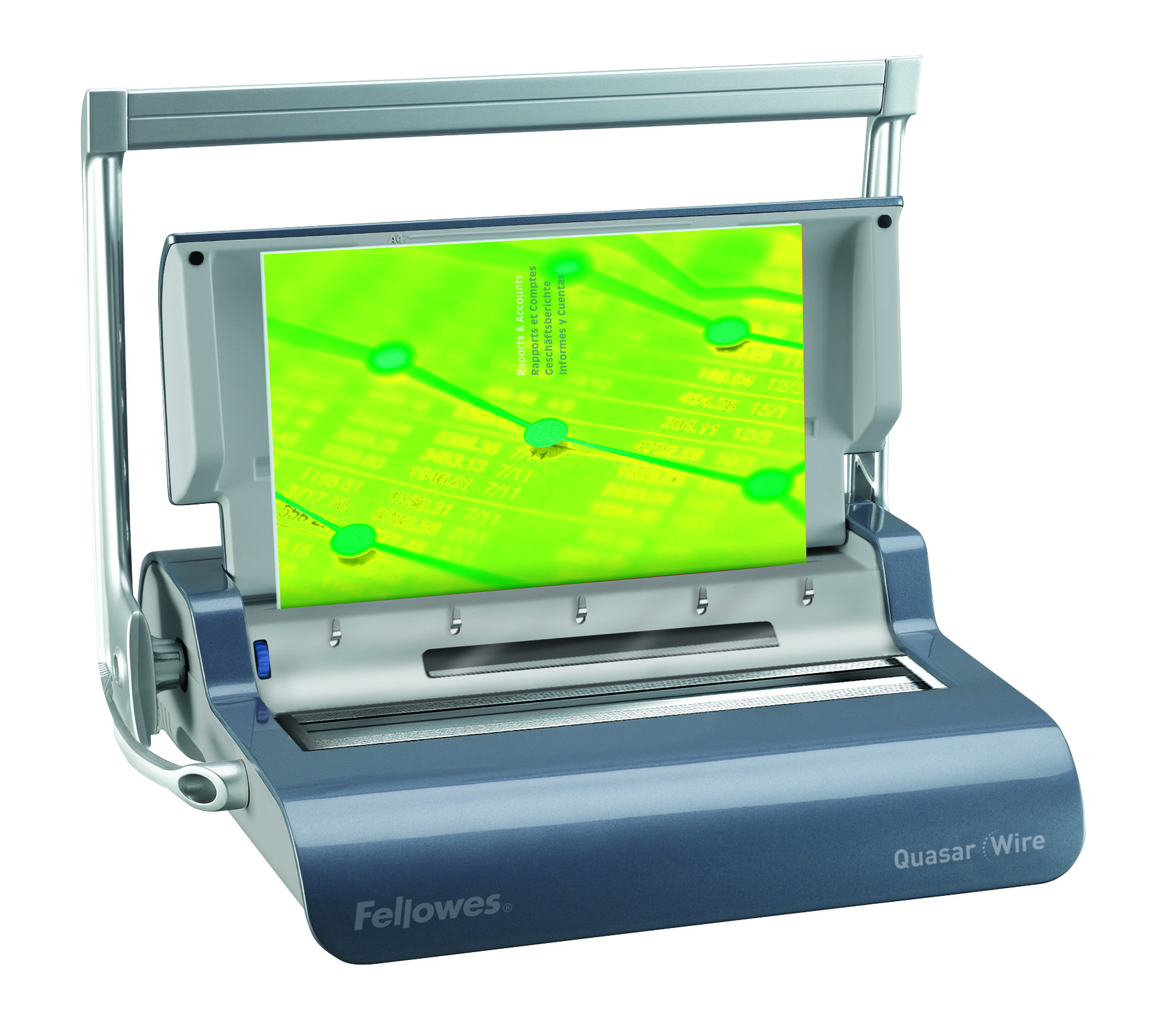 Image for Fellowes Quasar Mnl Wire Binding Machine