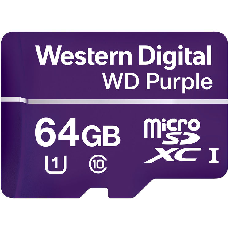 Flash Card 64GB Purple UHS1 MicroSD