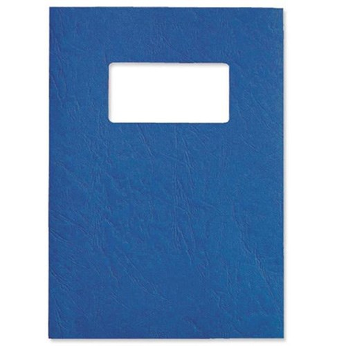 GBC Leathergrain Covers Win 250gsm Blue A4 46735E (PK50)