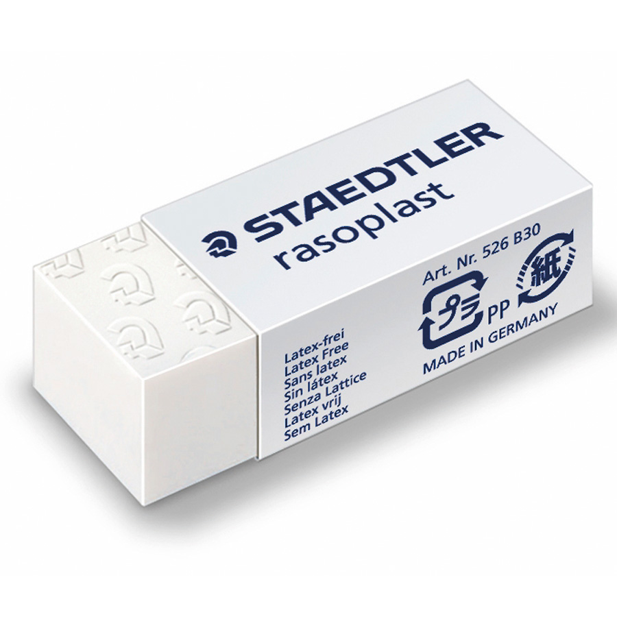 Staedtler Rasoplast Eraser Self-cleaning 42x18x12mm Ref 526B30 [Pack 30]