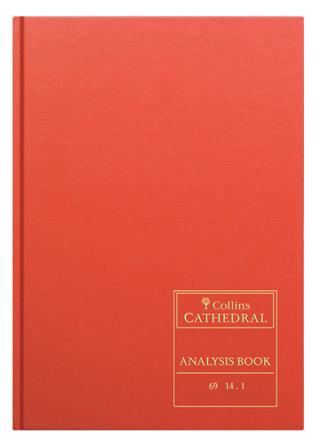 Accounts Binders & Refills Collins Cathedral Analysis Book 14 Cash Column 96 Pg 69/141