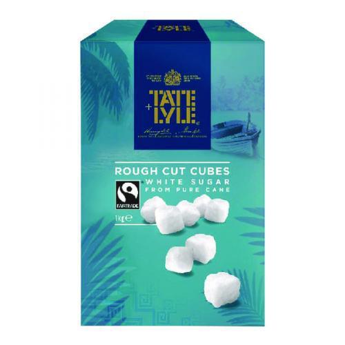 Sugar / Sweetener Tate and Lyle Rough-Cut White Sugar Cubes 1kg