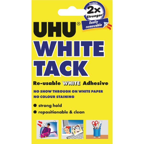 UHU White Tack Handy Pack 62g Pk12