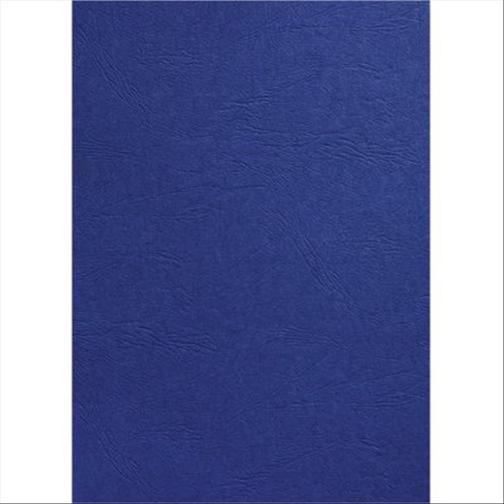 GBC Leathergrain Cover Set Royal Blue A4 50 Pairs CE040029