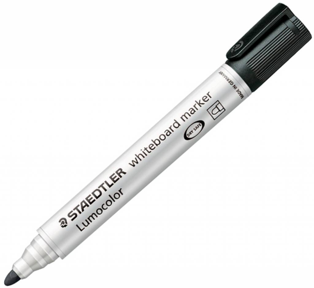 Drywipe Markers Staedtler Whiteboard Marker Black Bullet PK10