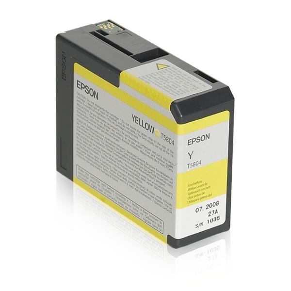 Epson T5804 Yellow Inkjet Cartridge