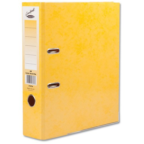 Concord Contrast Lever Arch File A4 Sunflower PK10