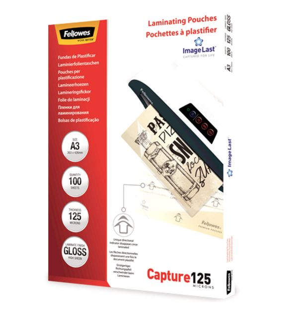Fellowes Laminating Pouch 125 Micron A3 Ref 5307506 [Pack 100]