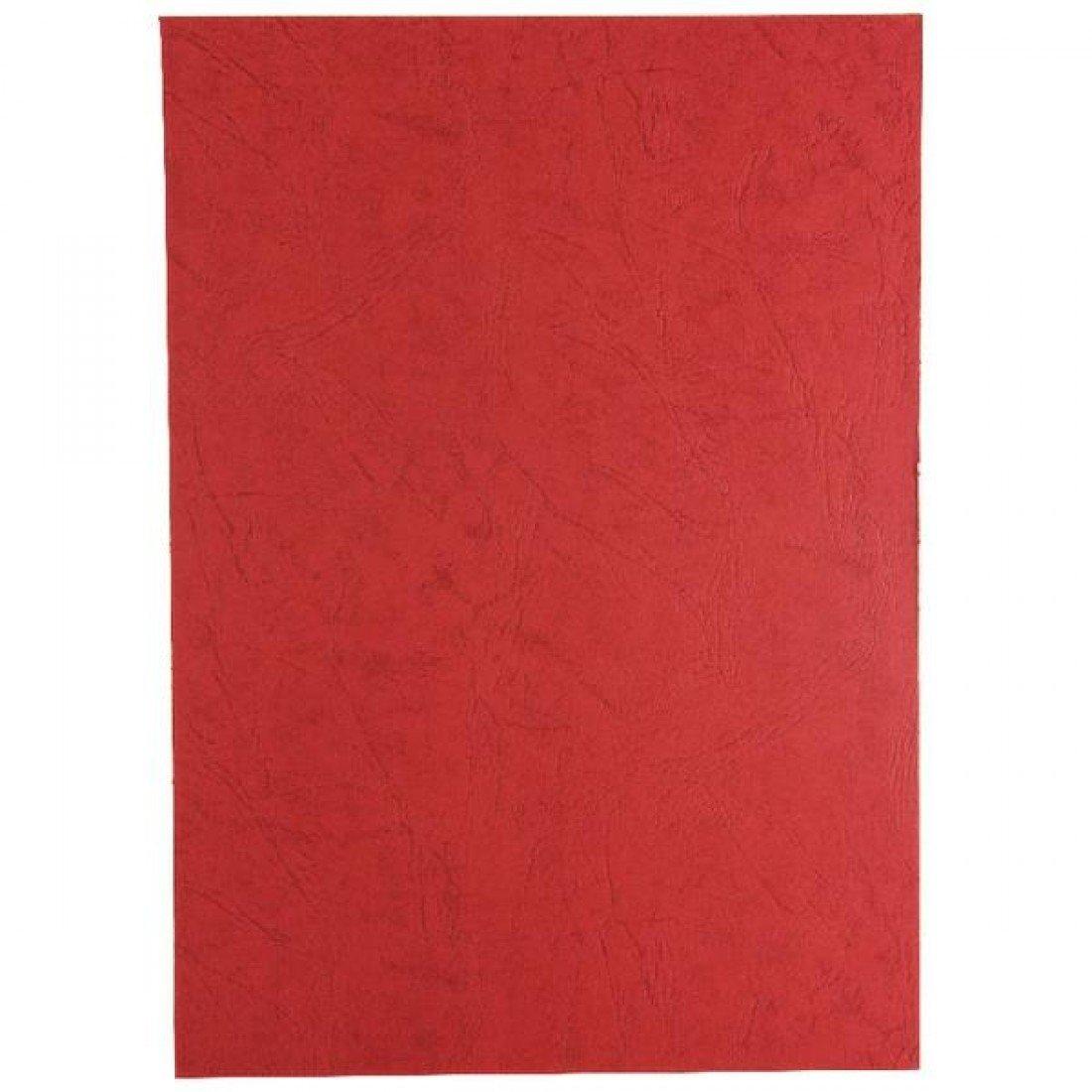 GBC Leathergrain Cover Set Dark Red A4 50 Pairs CE040030