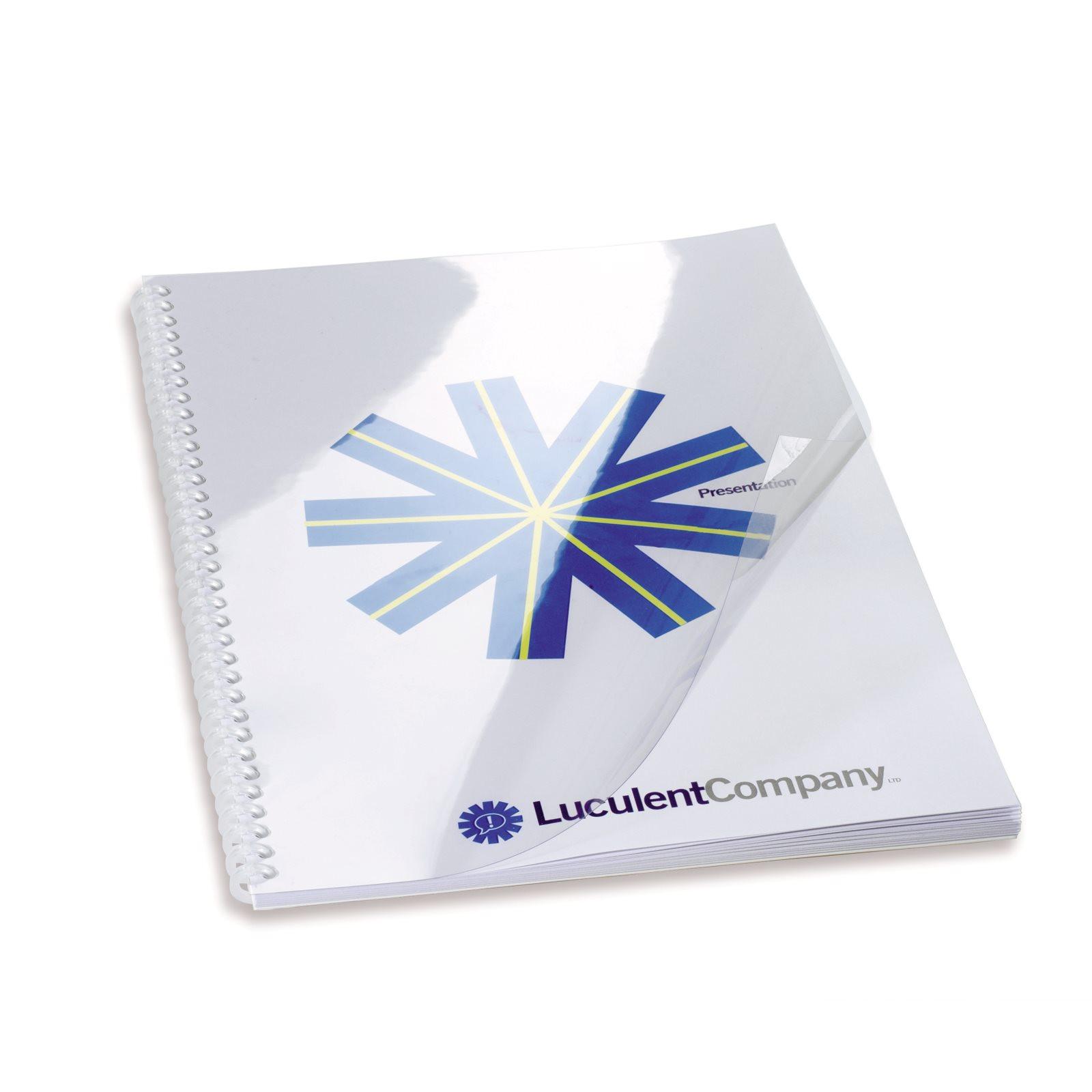 GBC HiClear Report Covers A4 250 micron Clear 41605E (PK50)