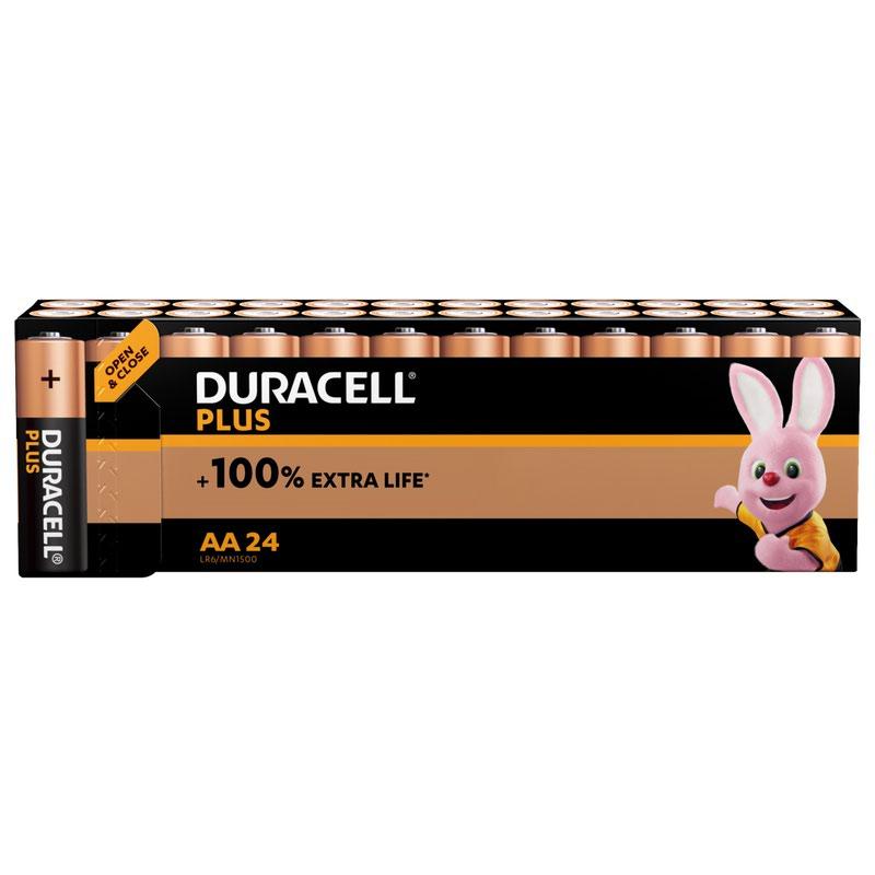 AA Duracell Plus Power AA Alkaline Battery (Pack 24) MN1500B24PLUS