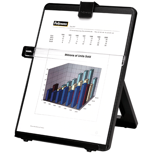 Copyholders Fellowes Copyholder Workstaion Black 21106