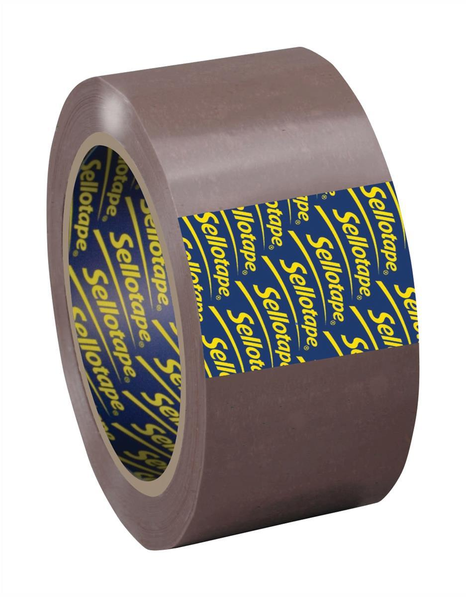 Sellotape Pack Tape 50mmx66m Buff PK6