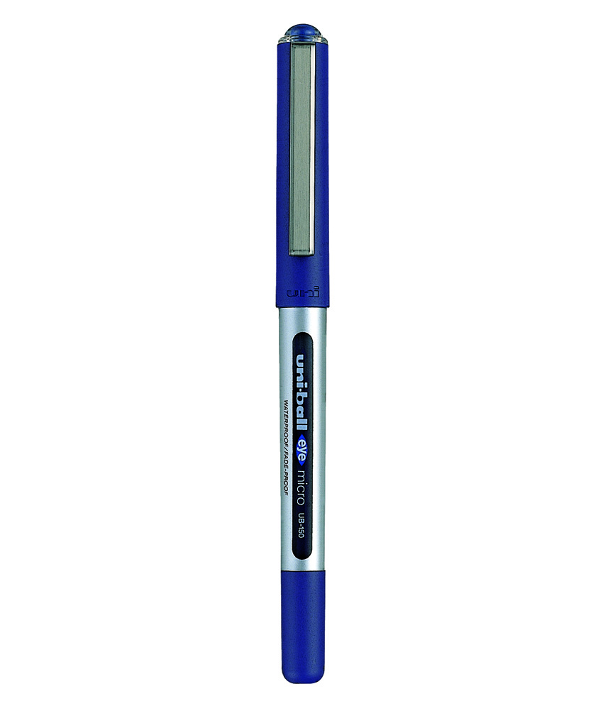 Uni-ball Eye UB150 Rollerball Pen Micro 0.5mm Tip 0.2mm Line Blue Ref 16255200 [Pack 12]