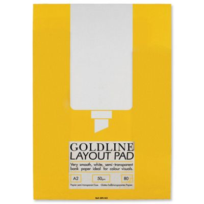 Goldline Layout Pad Bank Paper 50gsm 80 Pages A2 Ref GPL1A2Z