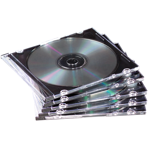 Cases ValueX  CD Jewel Case Slimline Clear 98316 (Pack 25)