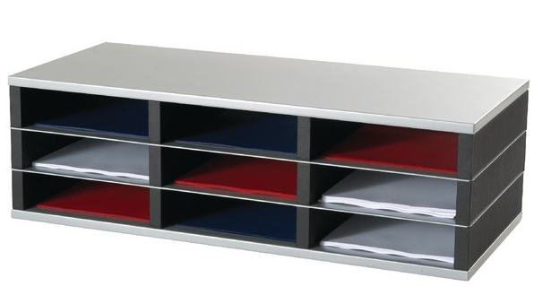 Literature Holders Fast Paper 9 Compartment A4 Mailsorter
