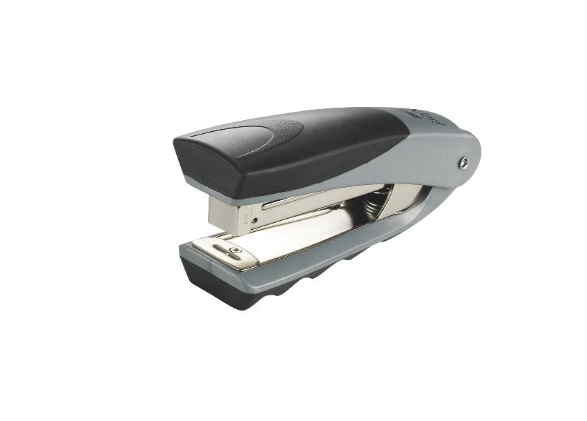 Rexel Centor Half Strip Stapler Vertical 65mm Throat 26/6 24/6 for 20 Sheets Silver and Blue Ref 2100596