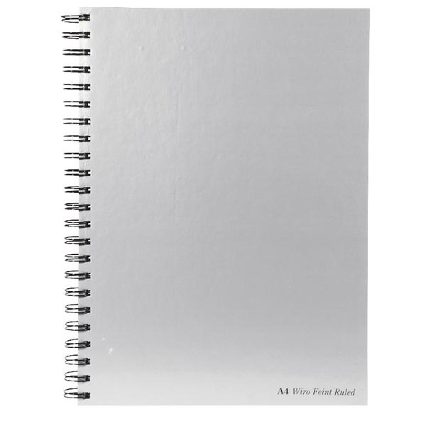 Pukka Wirebound Book A4 Silver PK5