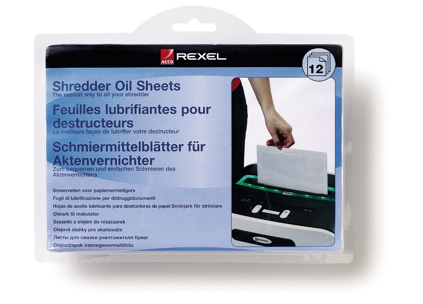 Rexel Shredder Oil Sheets (PK12)