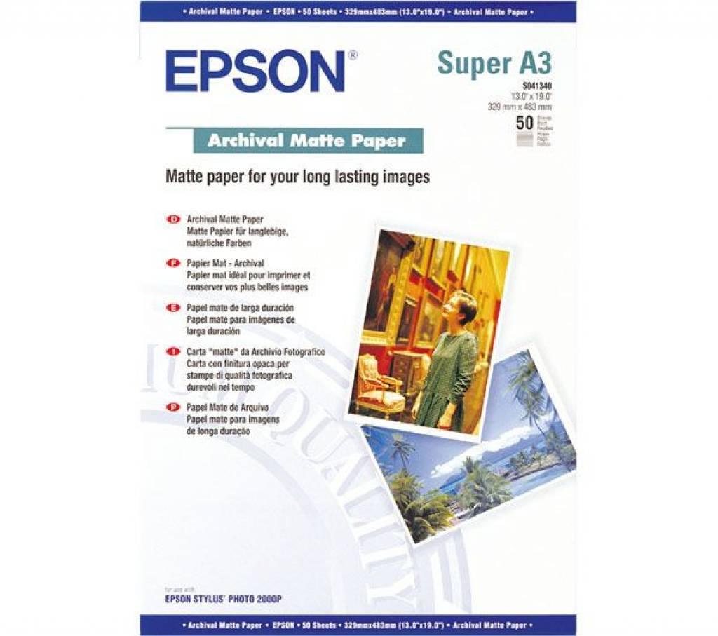 A3 Epson C13S041440 Archival Matte Paper A3Plus 50 Sheets