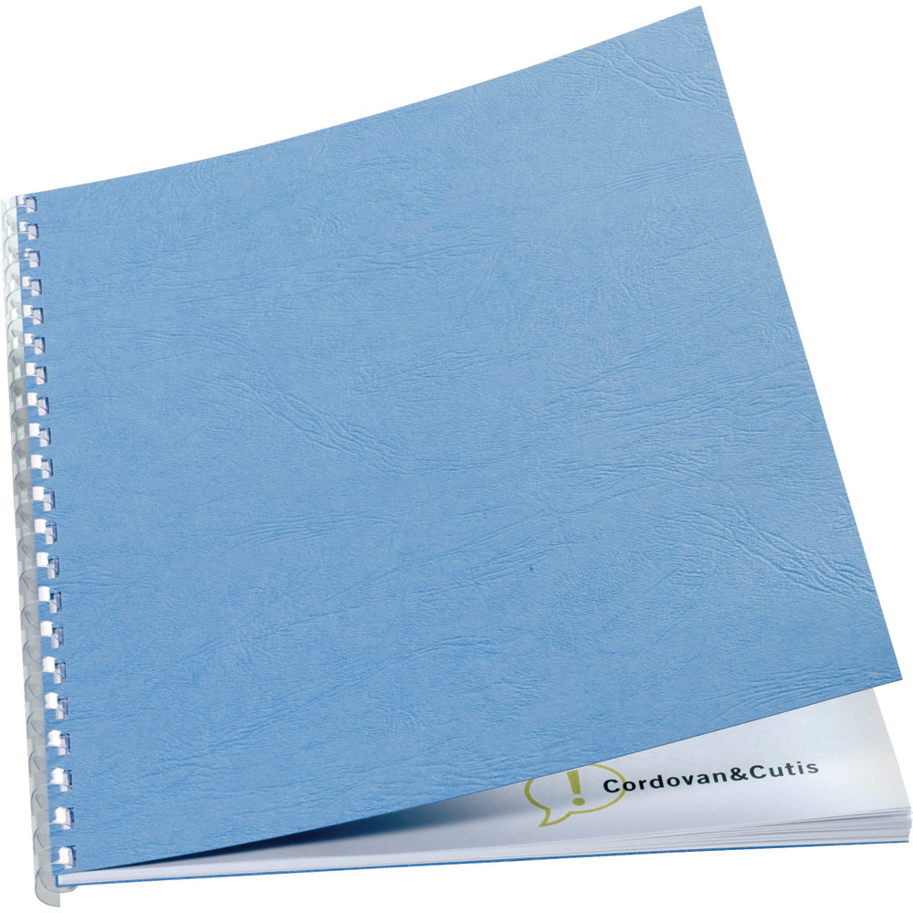 GBC Leathergrain Cover Set Blue A4 50 Pairs CE040021