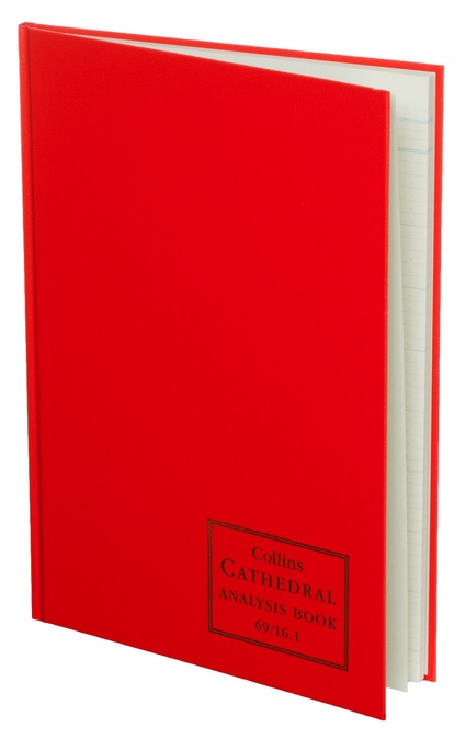 Accounts Binders & Refills Collins Cathedral Analysis Book 16 Cash Column 96 Pg 69/161