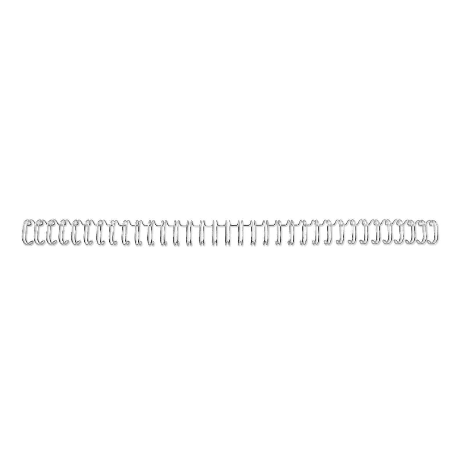 GBC 34 Loop Wire 11mm No.7 Silver PK100