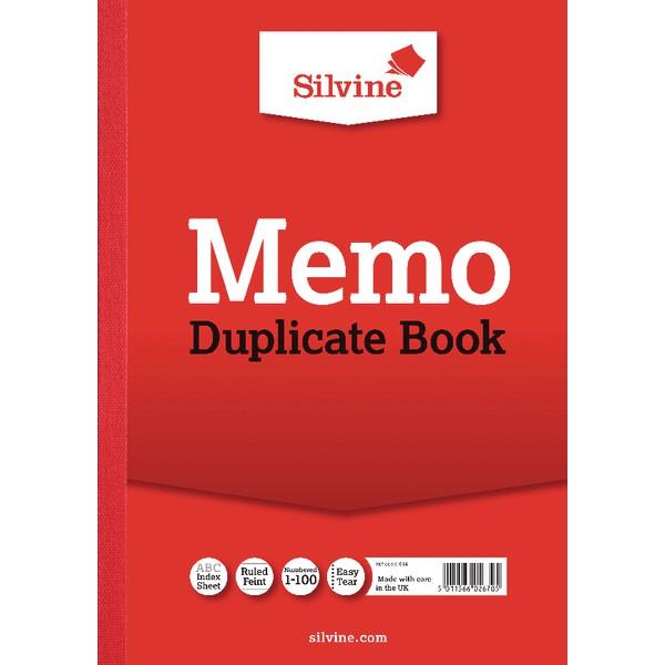 Silvine Dup Memo Book A4 PK6