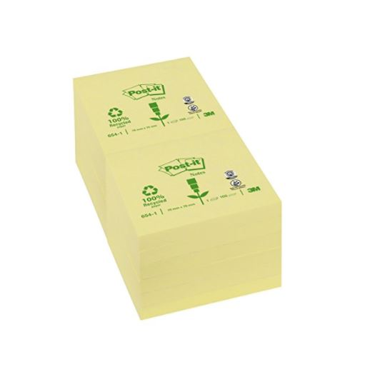 Post-it Notes 76x76mm Canary YL PK12