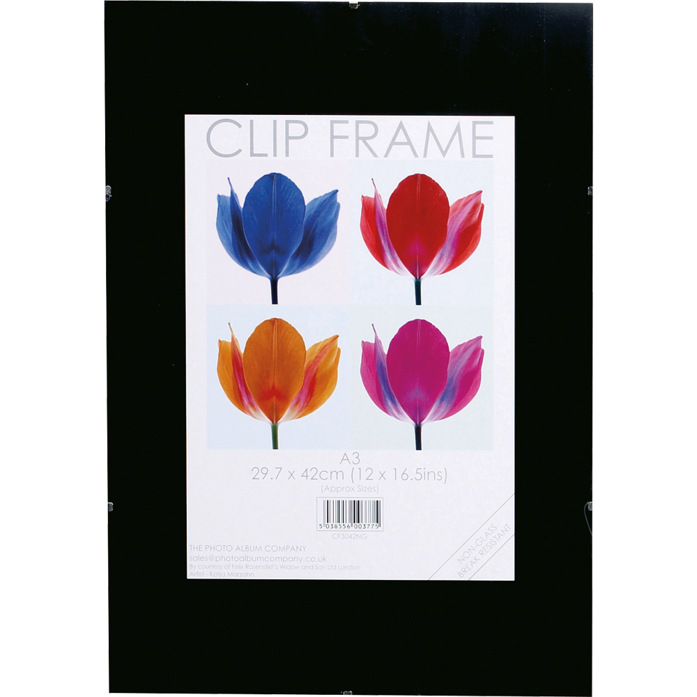 Certificate / Photo Frames Photo Album Co A3 Poster Display Frameless Clip Frame