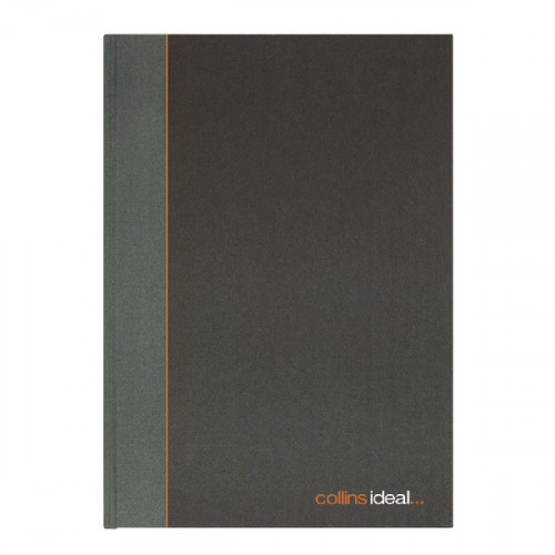 Collins Ideal Manuscript Book Casebound 80gsm Ruled 192 Pages A4 Black Ref 6428