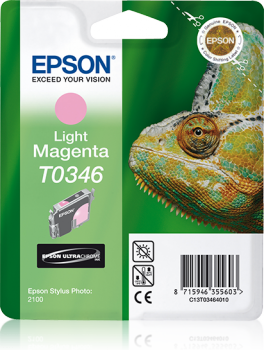 Epson Singlepack Light Magenta T0346 Ultra Chrome Ink Cartridge Ref C13T03464010