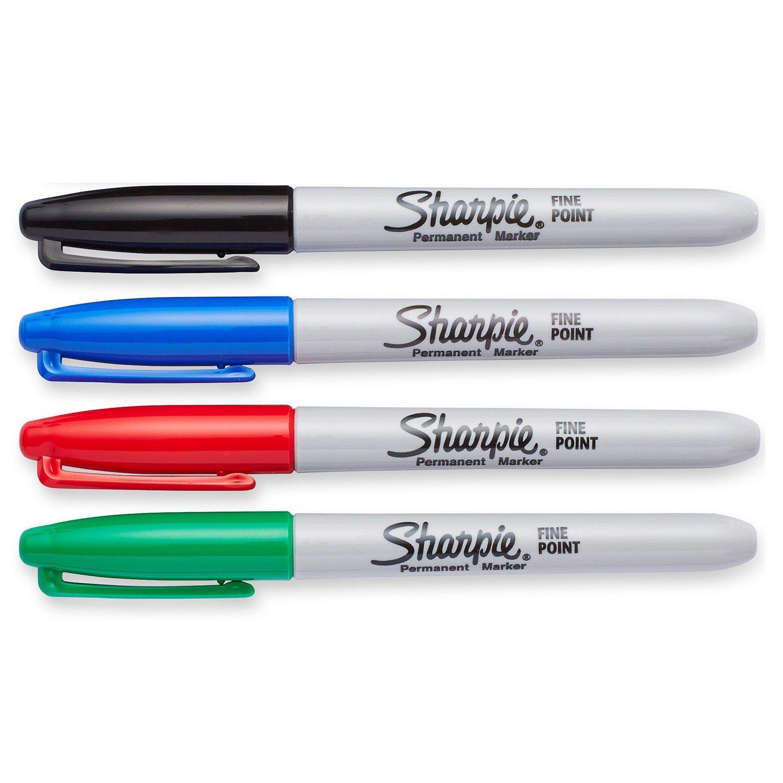 Sharpie Fine Perm Marker Asst PK4