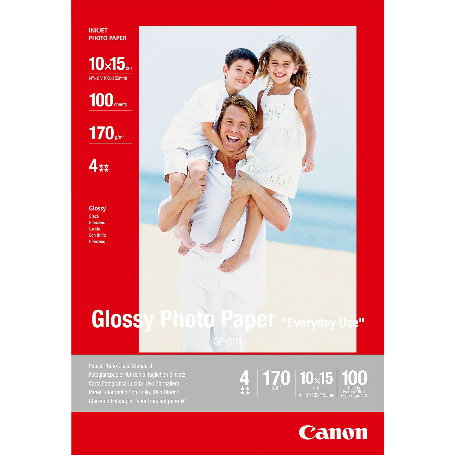 Canon 0775B003 GP501 Gloss Photo Paper 10x15cm 100 Sheets