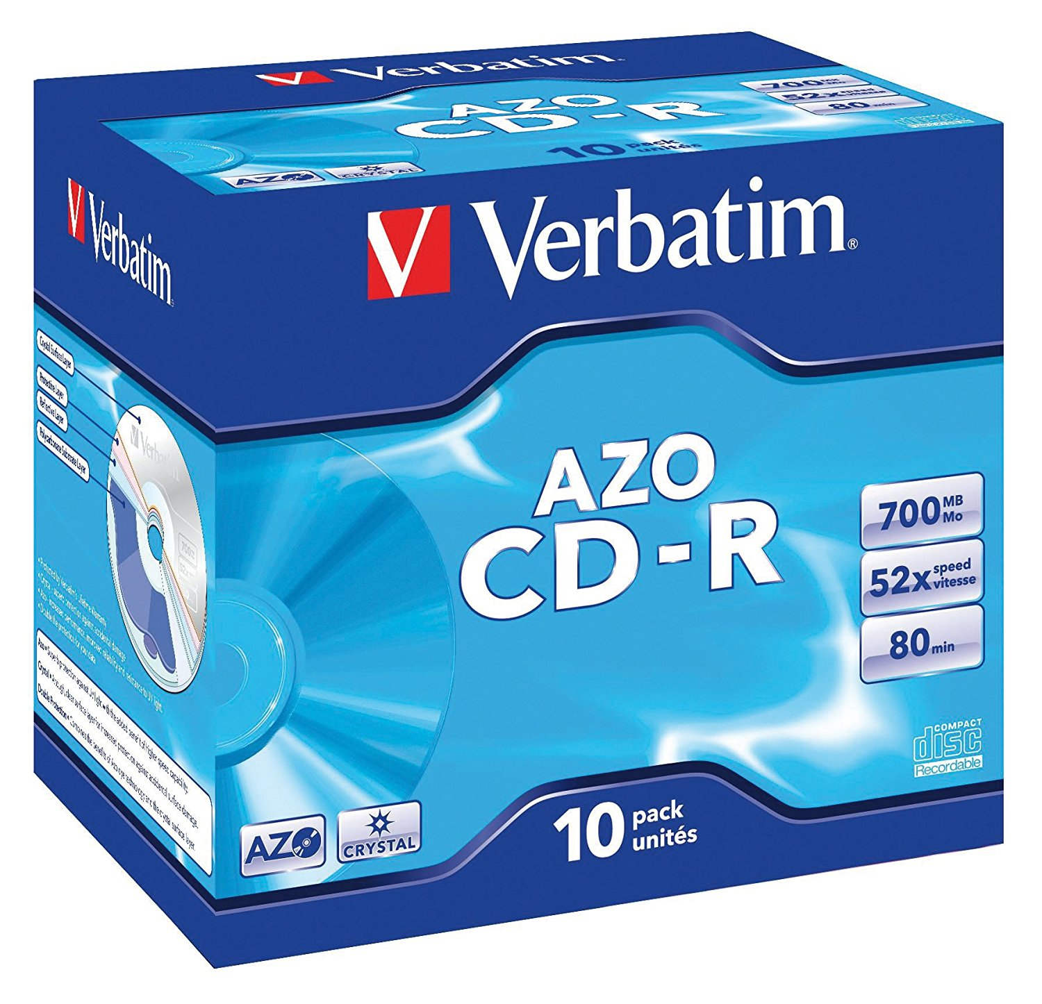 Verbatim CDR Crystal 700MB Box of 10