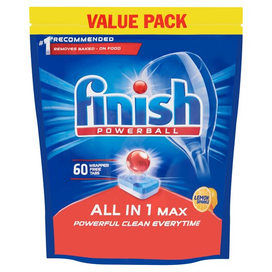 Cleaning Chemicals Finish All-in-1 Max Dishwasher Tablets Lemon PK60