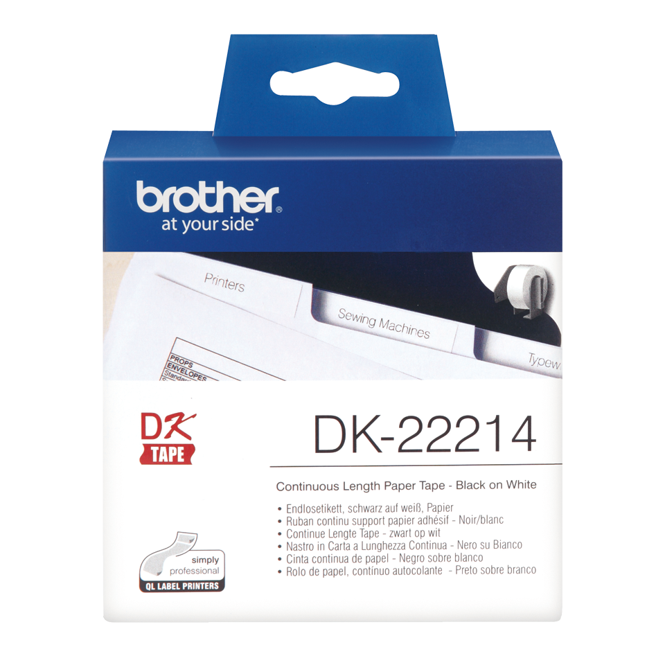 Brother DK22214 Continuous Paper Roll 12mmx30m