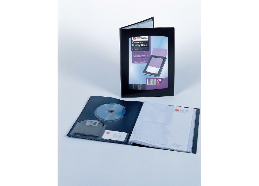 Rexel Clearview Display Book 12 Pockets A4 Black Ref 10300BK