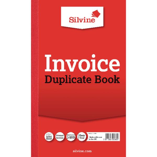 Silvine Duplicate Book Ruled 8x5in PK6