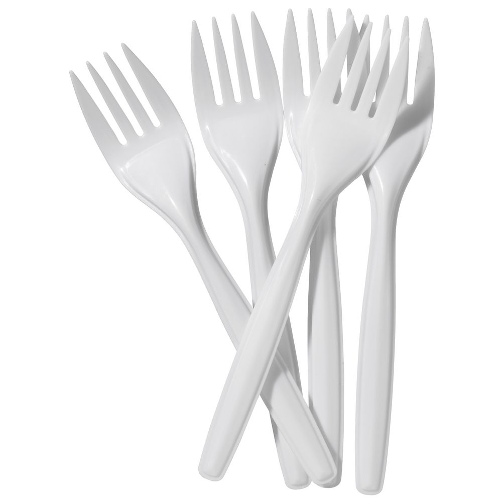 Cutlery ValueX Plastic Forks White (Pack 100)