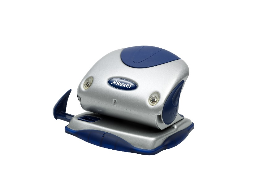 Rexel P215 Punch 2-Hole with Nameplate Capacity 15x 80gsm Silver and Blue Ref 2100739