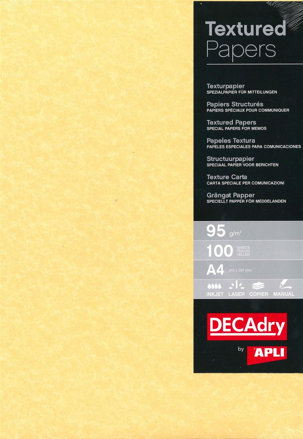 Photo Paper Decadry A4 Parchment Paper Gold 95gsm 100 Sheets