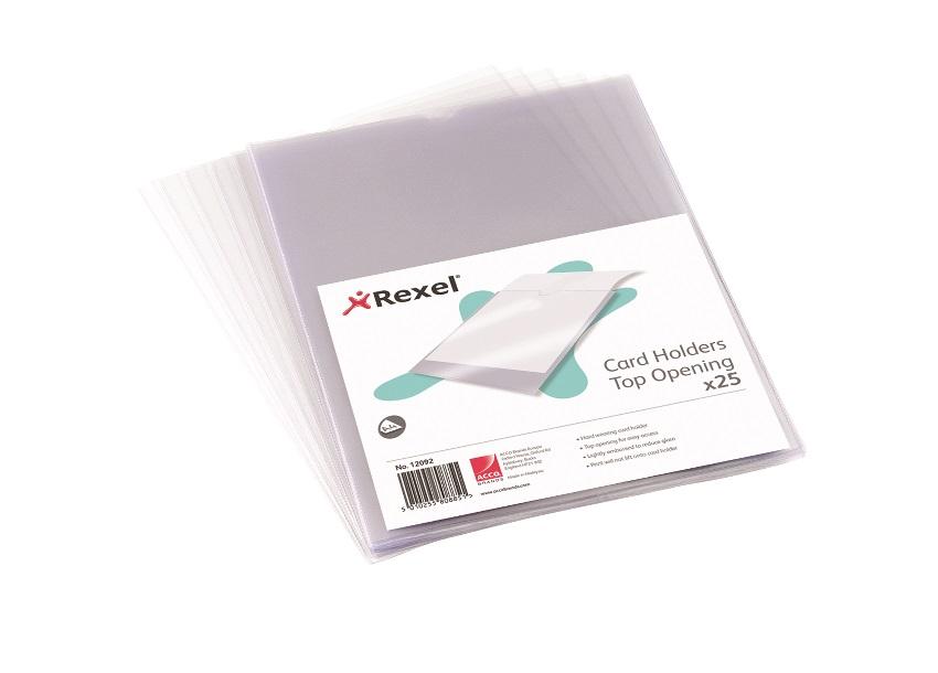 Rexel Nyrex Card Holder Open on Short Edge A4 12081 (PK25)