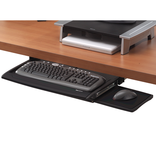 Wrist Rests Fellowes Office Suites Deluxe Keyboard Drawer Black/Silver