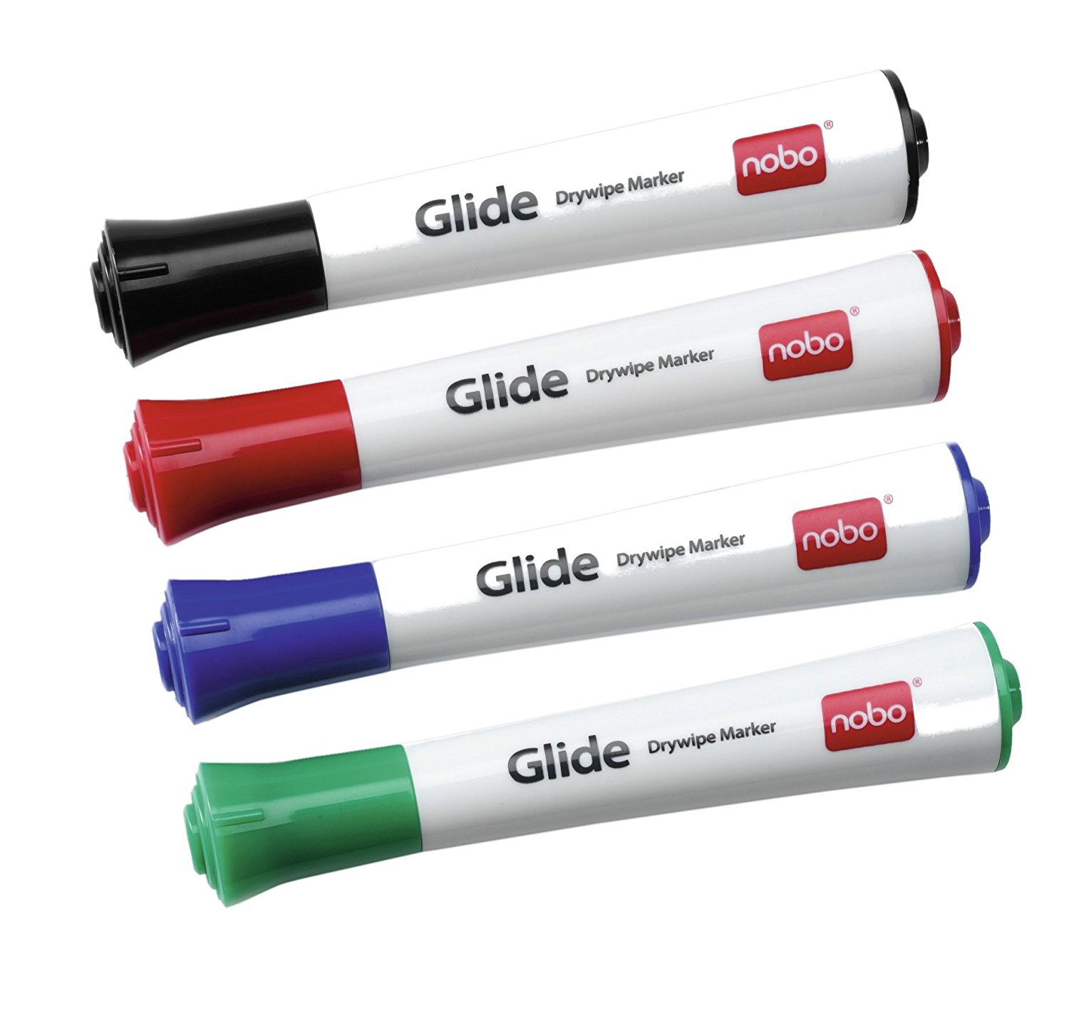 Nobo Glide Drywipe Markers Assorted PK4