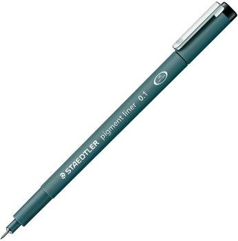Fineliner Pens Staedtler Pigment Liner Pen 0.1mm Line Black (Pack 10)