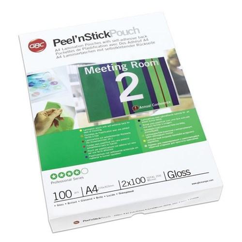 Peelnstick Pouch A4 2x100mic Gloss PK100